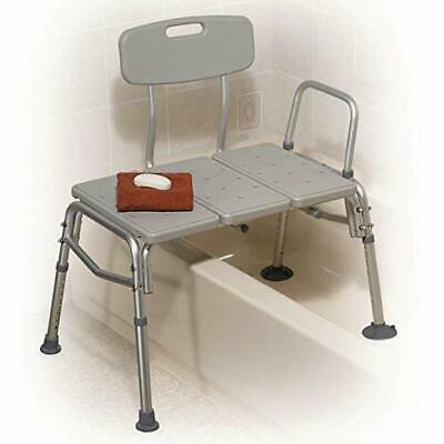 Drive Medical Plastic Tub Transfer Bench with Adjustable Backrest 400lb cap. (HL