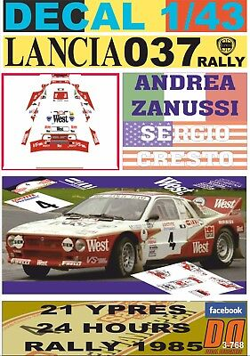 05 DECAL LANCIA DELTA INTEGRALE R.HOLZER YPRES 24 HOURS R 1989 DnF