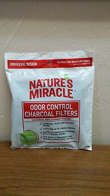 Nature's Miracle Odor Control Litter Box Universal Charcoal Filter 2pk
