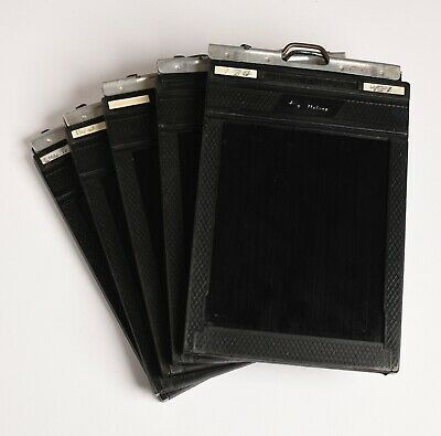 """5 x Fidelity Deluxe Double Darkslide 4x5""""film holders-large format - Photography"""
