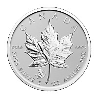 Lot of 5 x 1 oz 2016 Canadian Maple Leaf Year of the Monkey Privy Silver Coin