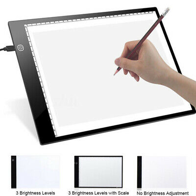 A4 Sketch Eye Protect Writing Exercise Drawing Pad Led Easy Operation Portable