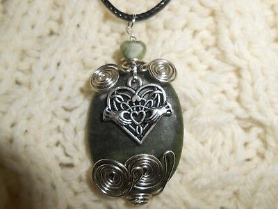 Celtic Irish Claddagh New Grange Connemara Heart Necklace