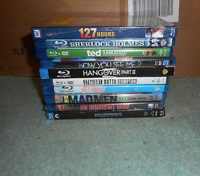 lot of 10  Bluray Movies  Used and New See Pictures for Titles