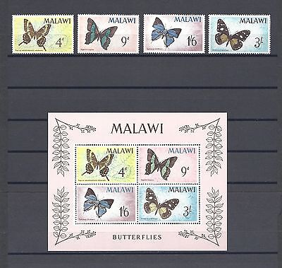 MALAWI 1966 SG 247/50, MS251 MNH Cat £22