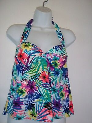 bd71585cd3 Collections by Catalina Women's Size S (4-6) Halter floral Tankini Swim Top