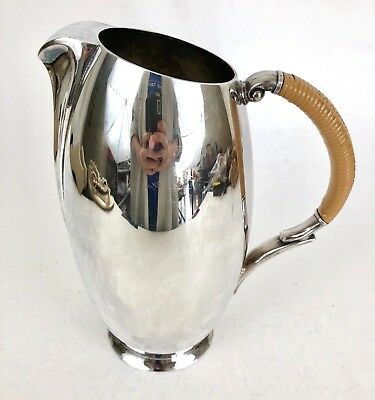 1847 Rogers Bros | Vintage Mid Century Modern Flair Silver Plated Water Pitcher