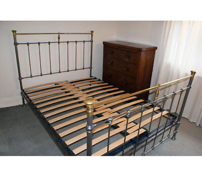 Adjustable SLATTED Bed Base For French & Victorian Metal Iron SLATS Extendable