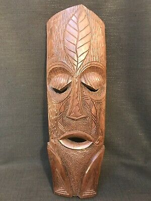 Large Wooden South American Tribal Wall Hanging Mask, 22""