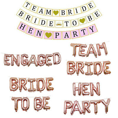Team Bride Hen Night Party Foil Balloon Banners Garlands Bunting Decoration