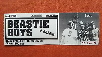 Beastie Boys Very Rare Unused Ticket Stub 28. November 1995. Ljubljana Slovenija