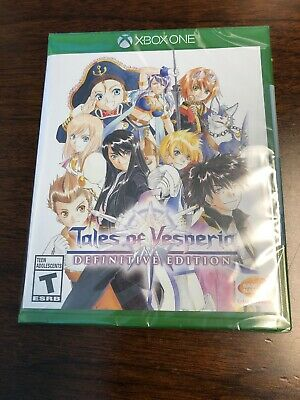 Tales of Vesperia Definitive Edition (NEW, Microsoft Xbox One, 2019) Video game