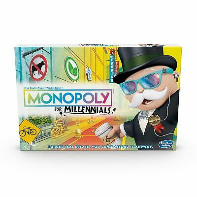 Monopoly for Millennials Hasbro Gaming Board Game Brand NEW Sealed