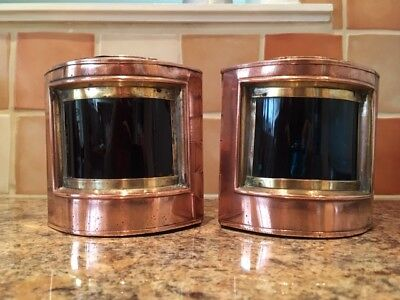 Ships Lights. Port & Starboard Lamps. Copper & Brass Lanterns Boat Yacht
