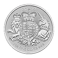 Lot of 10 x 1 oz 2019 The Royal Arms Silver Coin