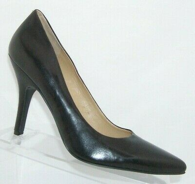 Women's Shoes New Nine West Jackpot Women's Brown Leather Pointy Toe Us 10 M High Heels D043 Heels
