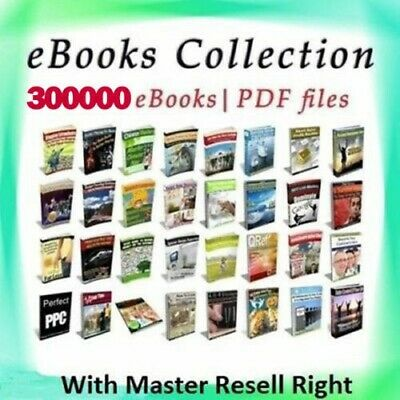 300000+ eBooks Package Collection   Pdf Format   With Master Resell Rights
