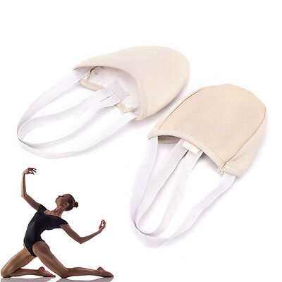Half PU Leather Sole ballet pointe Dance Shoes Rhythmic Gym Slippers Foot *H