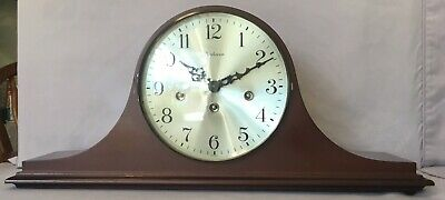 Dunhaven Tambour Westminster Chime Mantel Clock - Franz Hermle - West Germany