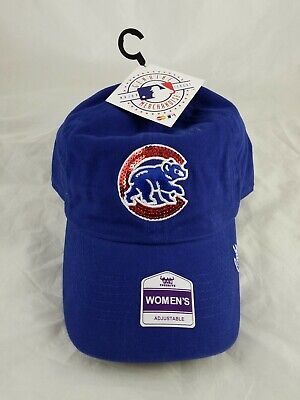 Women's Fan Favorite Royal Chicago Cubs Sparkle Adjustable Hat. Brand New W/Tags