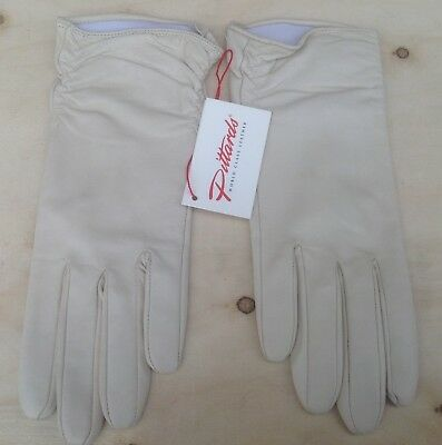 New Pittards Yeovil ladies leather gloves Ivory Stone Size 6.5