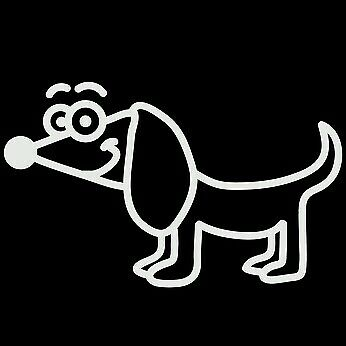 MY STICK FIGURE FAMILY Car Window StIckers PD6 Dachshund Dog Sausage Dog
