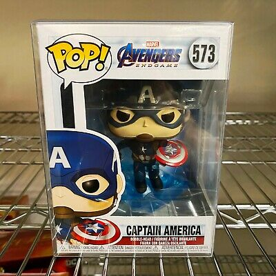 "Funko Pop Avengers Endgame : Captain America with Shield #573 ""MINT"" (IN STOCK)"