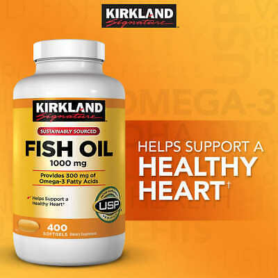 Kirkland Signature Fish Oil 1000 mg (Sustainably Sourced)400 Softgels. Exp 11/20