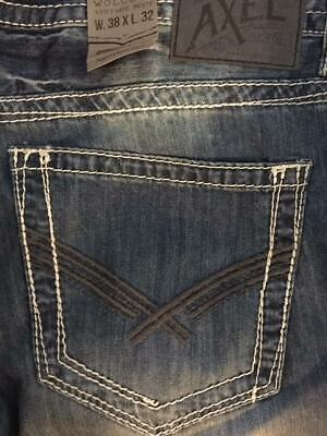 d097f15e18f Axel Men's Jeans Wolcott Vintage Bootcut Jeans Color Guilford NEW 38 X 32  $59
