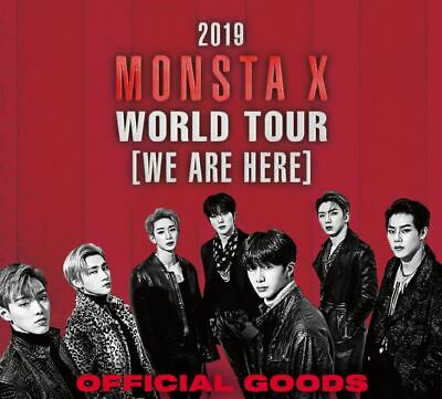 2019 Monsta X World Tour We Are Here Official Goods Slogan Towel Ver.3 New