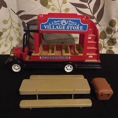 sylvanian families village bus red and black
