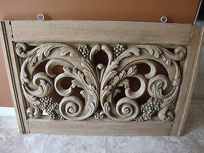 French Carved Outdoor Window Beautiful Detail
