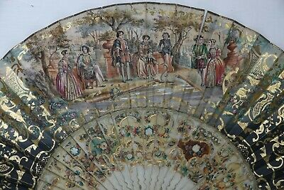 Fine Quality Hand Fan In J Duvelleroy Box London & Paris - Very Rare - L@@k