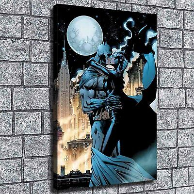 "12""x20"" Catwoman kiss batman HD Canvas prints Painting Home decor Room Wall art"