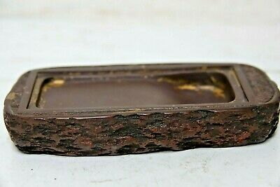 Chinese Scholars Ink Stone Signed - Brush Washer - Very Rare - Character Marks