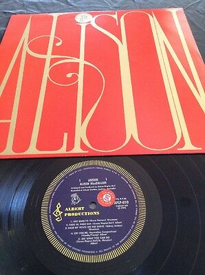 APLP 010 ALISON MacCALLUM  PROMO SAMPLE  LP RECORD EXCUSE ME ALBERT PRODUCTIONS