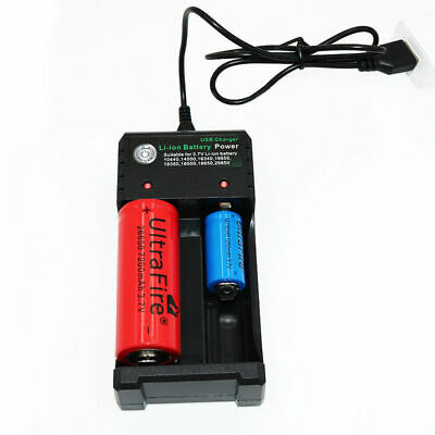 2 Slots Smart Battery Charger For 3.7V 18650 Rechargeable Li-Ion Battery USB
