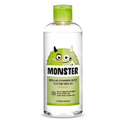 ETUDE HOUSE Monster Micellar Cleansing Water 100ml 3.38oz  Face Lip Eye Remover