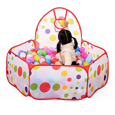 Kids Children Portable Ball Pit Pool Play Tent for Baby Boy Outdoor Game Toy PG