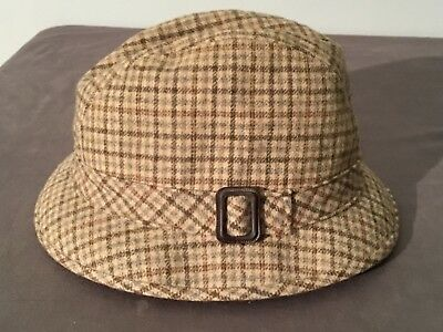 7d750d7d90e Mens Vintage 7 1 4 Pendleton Brown Plaid Trilby Style Fedora Fitted Buckle  Band