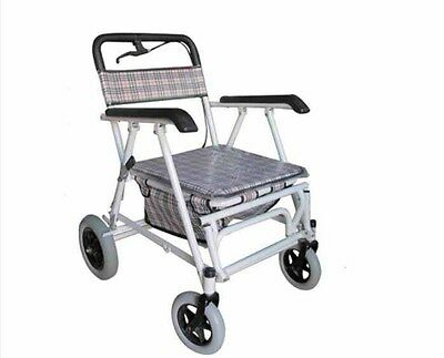 Lattice 4 Wheels Convenient Foldable Shopping Luggage Trolleys With Seat *