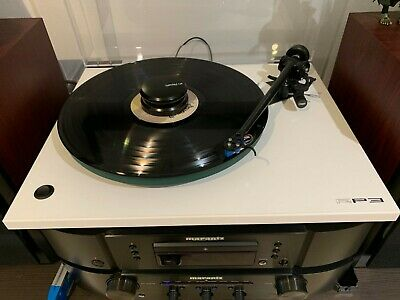Rega Planar RP3 Turntable, White withwith Elys 2 Cartridge and cover.