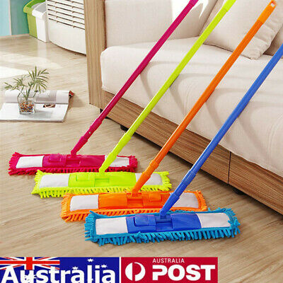 Wet Dry Extendable Microfibre Floor Mop Cleaner Sweeper Iron Pole Laminate Tile