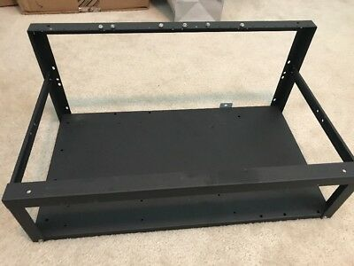 Aluminum Crypto Mining Open Air Frame Black (Bitcoin, Ethereum, Monero) 20x11x8""