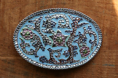 Vintage Belt Buckle Flower Design