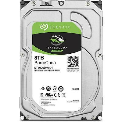 "Seagate 8TB SATA 3.5"" HDD Barracuda 5400RPM 256MB Internal Hard Disk Drive"