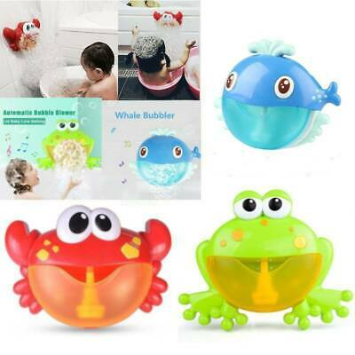 12 Songs Bubble Machine Frog&Crab Automatic Bubble Maker Blower Music Bath Toy