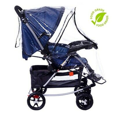 Universal Baby Stroller Rain Cover Waterproof Umbrella Stroller Wind Dust Shield