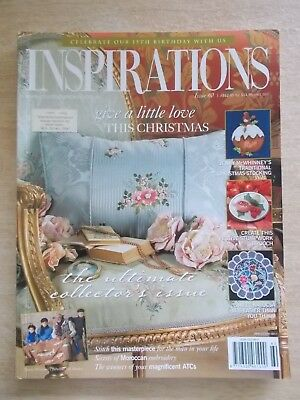 Inspirations #60~Embroidery Projects~Xmas~Cushion~Needlecases~Doily~Koalas....