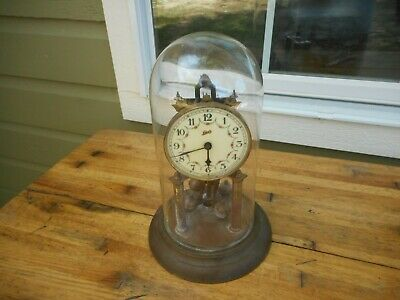 Vintage Schatz 400 Day Anniversary Wedding Clock Made in Germany For Repair